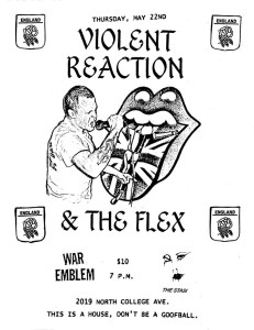 violent reaction flyer